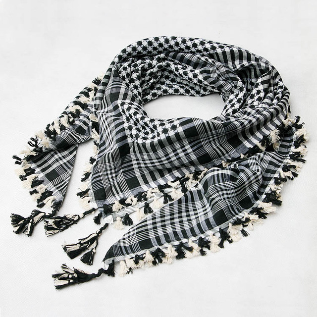 Image result for black and white scarf arab