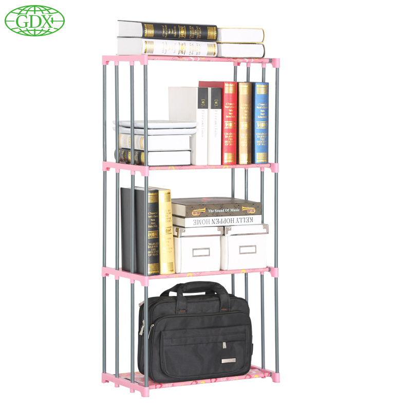 GDX Multi Function 4 Layer Stainless Tube Book Shelf Storage Bookcase  Organizer For Books Shelves DIY Magazine Holders In Bookcases From Furniture  On ...