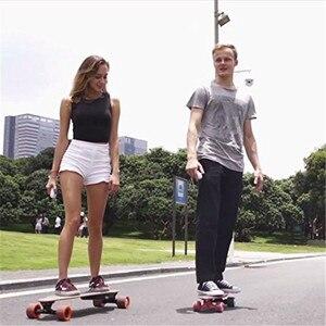 Image 5 - Longboard Elettrico Skateboard Singolo Motore Hoverboard 4 Ruote di Skateboard Con Telecomando 600 W Kit Motore Del Mozzo