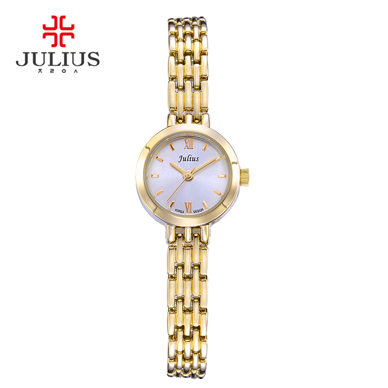 Mini Lady Women's Watch Japan Quartz Fashion Hours Dress Bracelet Simple Alloy Business Girl Valentine Birthday Gift Julius Box new simple cutting glass women s watch japan quartz hours fashion dress stainless steel bracelet birthday girl gift julius box