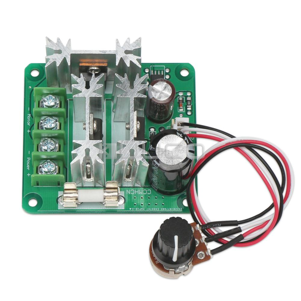 DC Motor Stepless Moter Driver DC 6V~90V 8A 720W PWM Speed Controller Speed Module Support PLC Controller цена