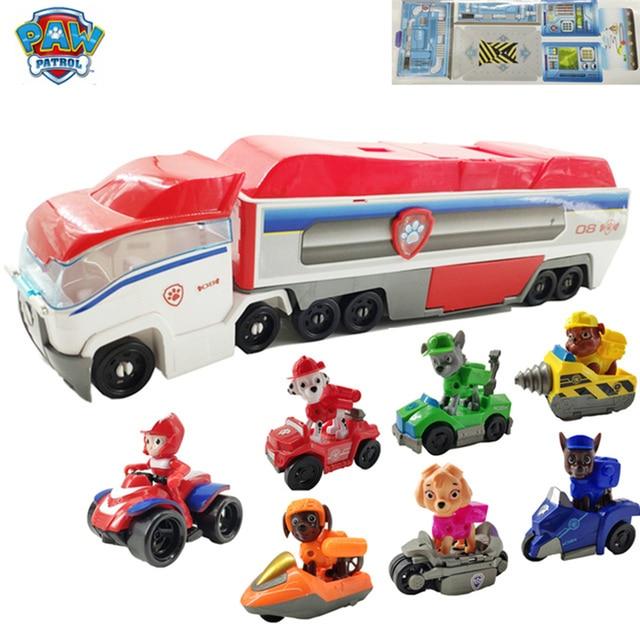 Patrulha pata Do Cão Brinquedos Do Carro Grande ônibus Patrulha Patrulha Cachorro Figura de Ação Figma Anime Figura Modelo Deformação Brinquedos para As Crianças do Presente