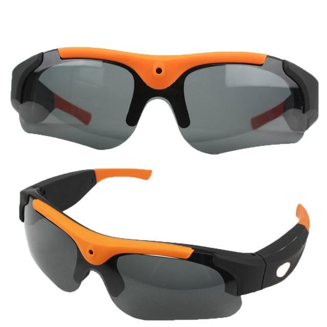New 8GB/16GB/32GB Camera Smart Glasses Black/Orange Polarized Lens HD 1080P Sunglasses Camera Action Sport Video Camera Glasses