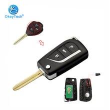OkeyTech пульт дистанционного управления модифицированный ключ 3 кнопки 315 МГц 4D68 чип TOY43 лезвие для Toyota Camry Corolla Prado RAV4 Vios Hilux, Yaris