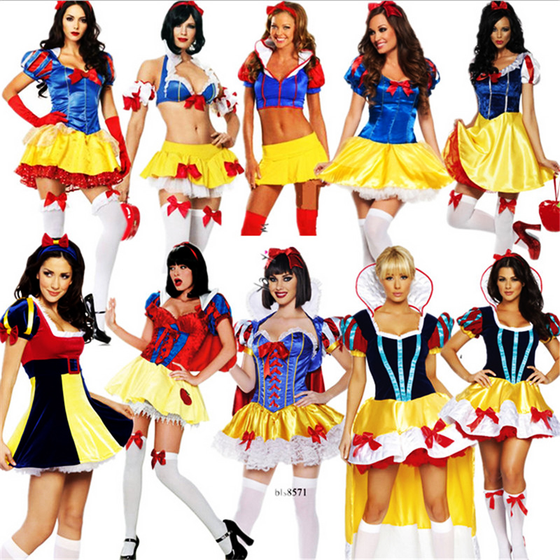 2018 new Plus Size Adult Snow White Costume Fairy tale Clothes high quality cosplay Dress Carnival Halloween Costumes For Women