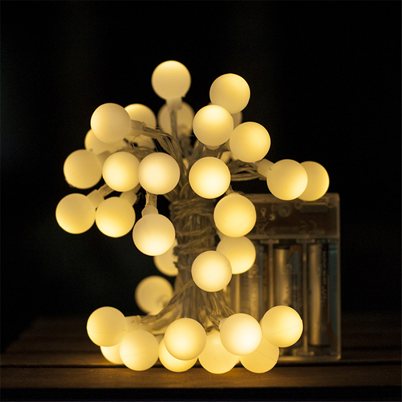 Battery Operated Outdoor String Lights Globe: Battery Operated Ball String Lights 3M 30leds Fairy Globe