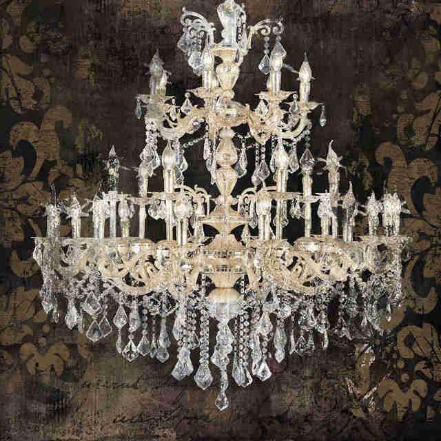 Modern still life painting canvas art crystal chandelier ...