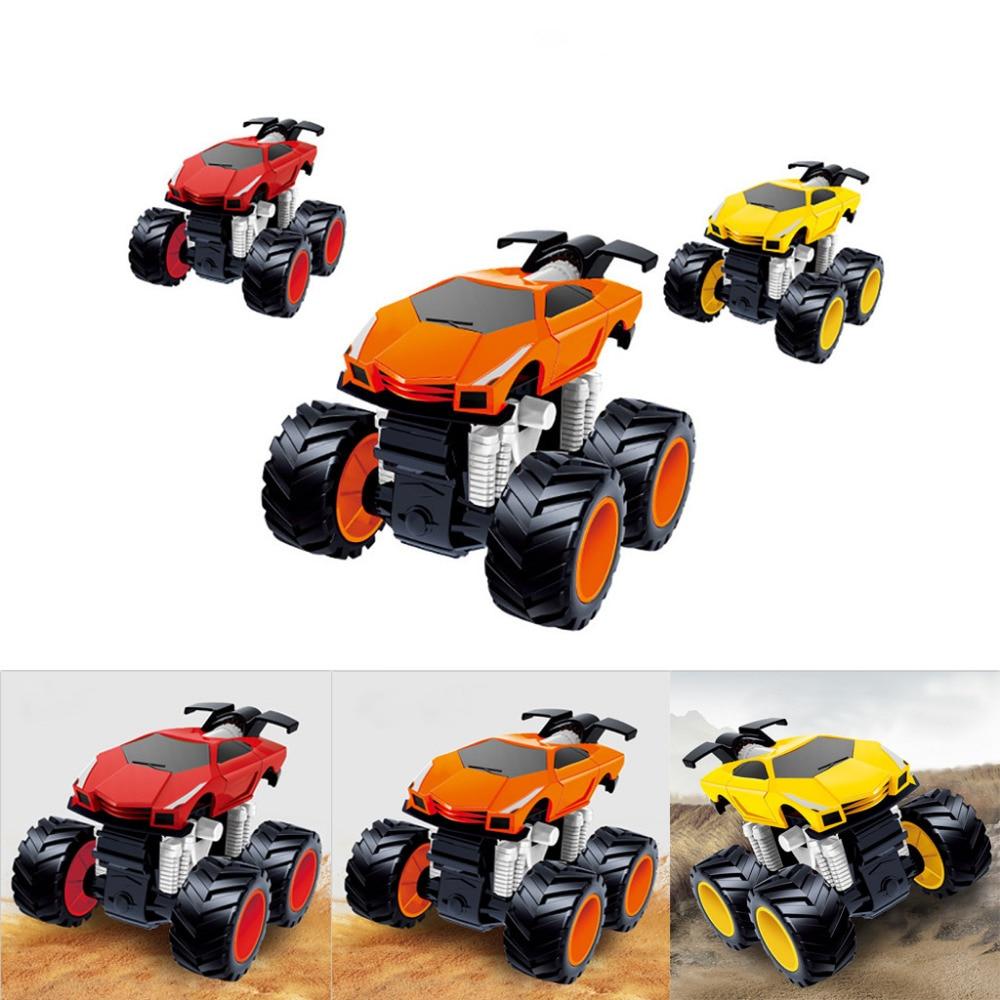 1PCS Toy car inertia four-wheel drive big foot simulation racing car boy model car anti-falling aged baby car hot F5