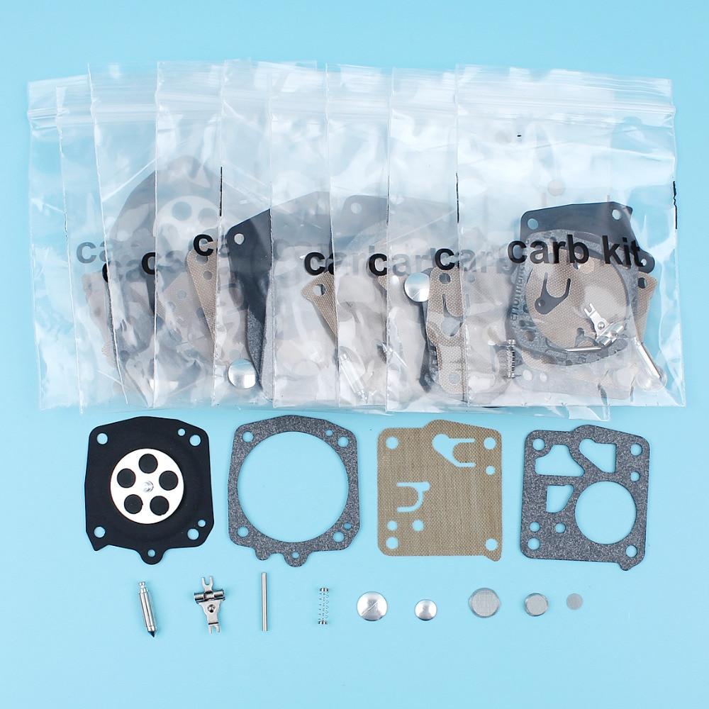 10Pc/Lot Carburetor Diaphragm Rebuild Repair Kit For Husqvarna 61 66 266 268 272 281 288 Chainsaw Carb Tillotson RK-23HS