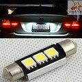 NEW 2x C5W 6000 K Branco 36mm CANBUS Nenhum Erro LED Licença placa de Luz PARA BMW E46 323i 325i 330i