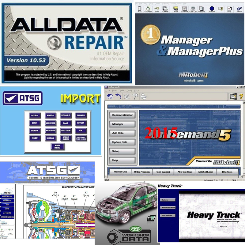 2019 Hot Auto Repair Alldata Software V10.53 mitchell on demand 5 software 2015 atsg Vivid workshop usb 1tb hard hdd all data-in Software from Automobiles & Motorcycles