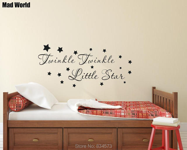 Mad World Twinkle Twinkle Little Star Nursery Wall Art Sticker Wall ...