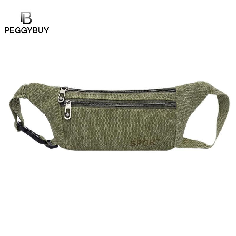 2018 New Women/Men Zipper Canvas Travel Crossbody Waist Pack Belt Bag Outdoors Shoulder Casual Pouch Handbags Unisex Waist Bag ...