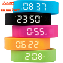 Fashion Sports Smart 3D Step Gauge Watch Bracelet Wrist Trends Outdoor step Meter&Calories&Time date&Distance Health Wristwatch