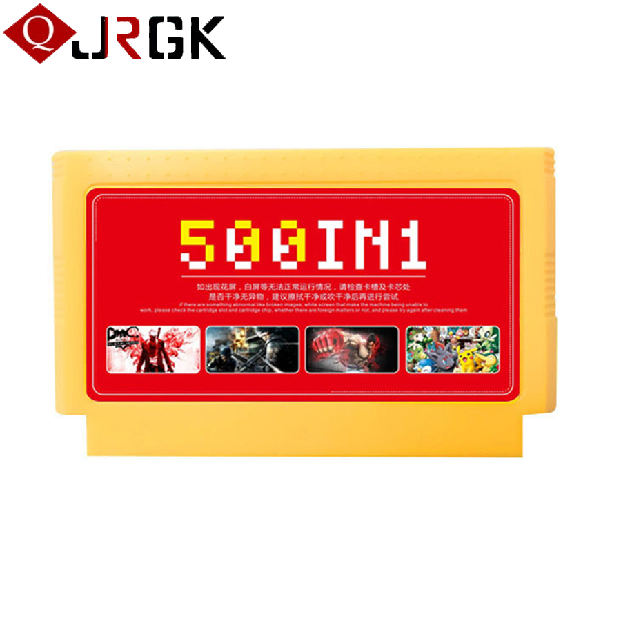 2018 New Arrival 500 in 1 Classic Games Collection 8 Bit 60 Pins Game Card for Video Game Console Memory Card