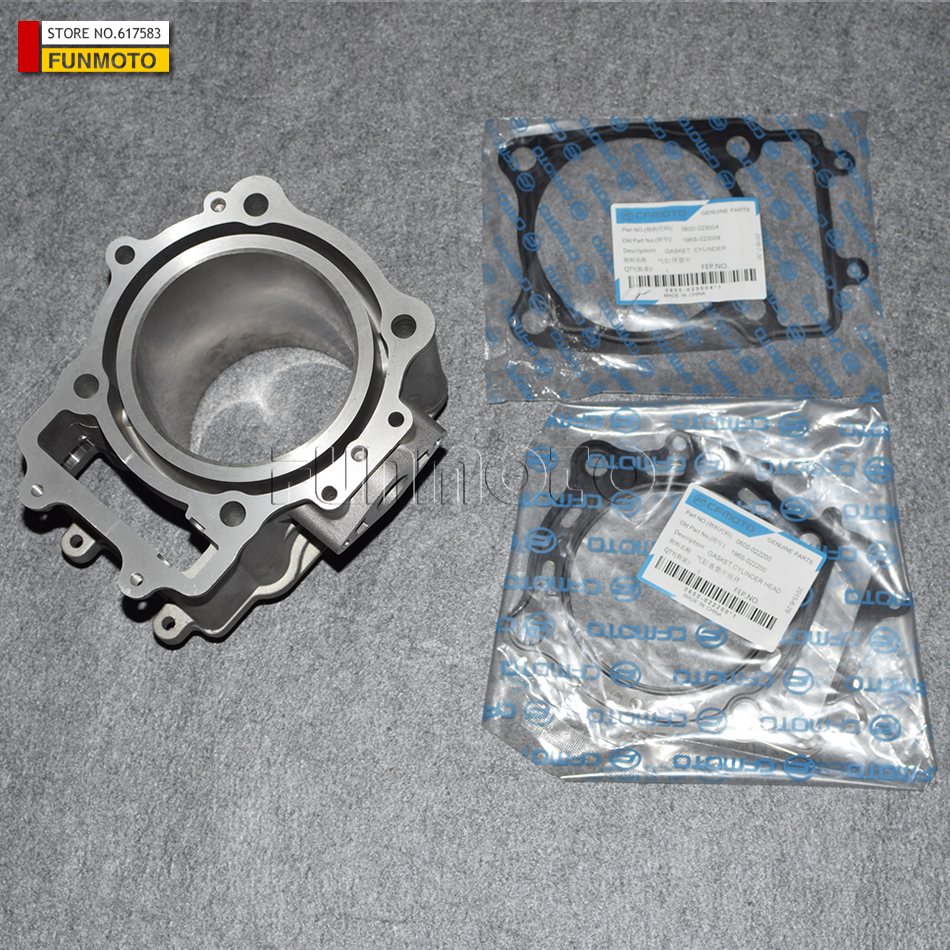 CYLINDER BODY AND UPPER AND LOWER GASKETS SUIT  FOR CFMOTO/CF196S/CFZ6/CFX6  PARTS CODE IS 0600-023100/0600-023004/0600-022200