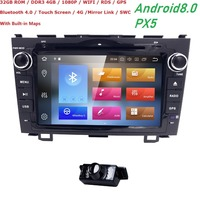 Car dvd player GPS Navi For Honda CRV 2007 2011 Capacitive screen 1024*600+4Gwifi+BT+SWC+RDS+Android 8.0+4G RAM+32G ROM OctaCore