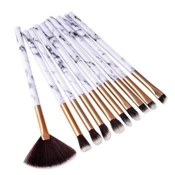 1/4/10 Pcs Marble Professional Makeup Brush Kit Soft Hair Brush Eyebrow Eye Shadow Soft Makeup Tools