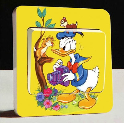 1 unids donald duck extraíble pared pegatinas interruptor pegatinas diy niños do