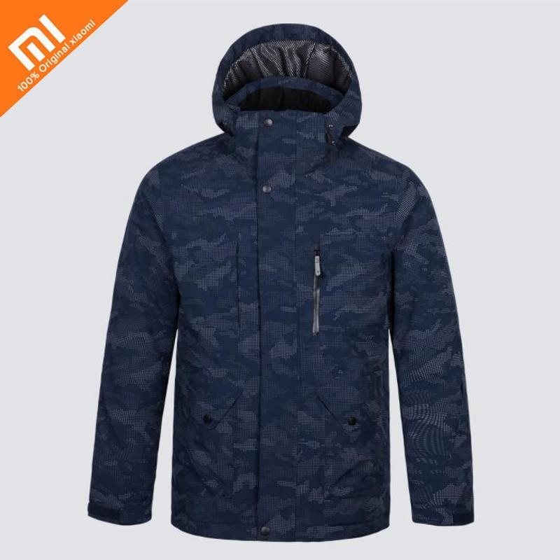 Xiaomi mijia pleine nuit vision réfléchissante combinaison de ski imperméable réfléchissant impression stéréo serrure température d'hiver vers le bas veste