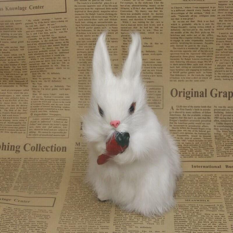 Simulation fur animal simulation the small white rabbit childrens girlfriend furnishing articles present living room desk