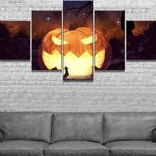 Pumpkin Landscape 5 Pieces Home Decor Wall Canvas Art For Living Room Paintings on for