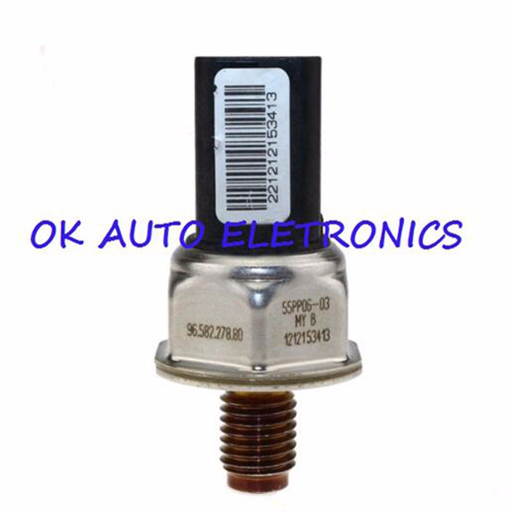 Fuel Rail Pressure Sensor For Peugeot 107 206 207 307 308 407 1.6 HDI Fiat Citroen 1.6 D Multijet Engine 55PP06-03 2002-2014