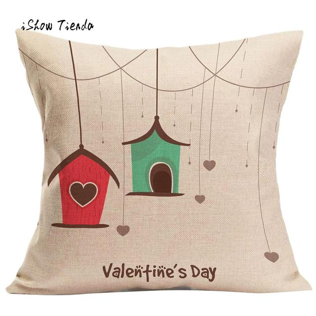 088f9edbd08 Valentine s Day Gift Pillow Cover Cute Printing Fashion Throw Pillow Cases  Cafe Sofa Cushion Cover Lovely