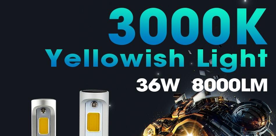 s2-3000k H1 LED bulb
