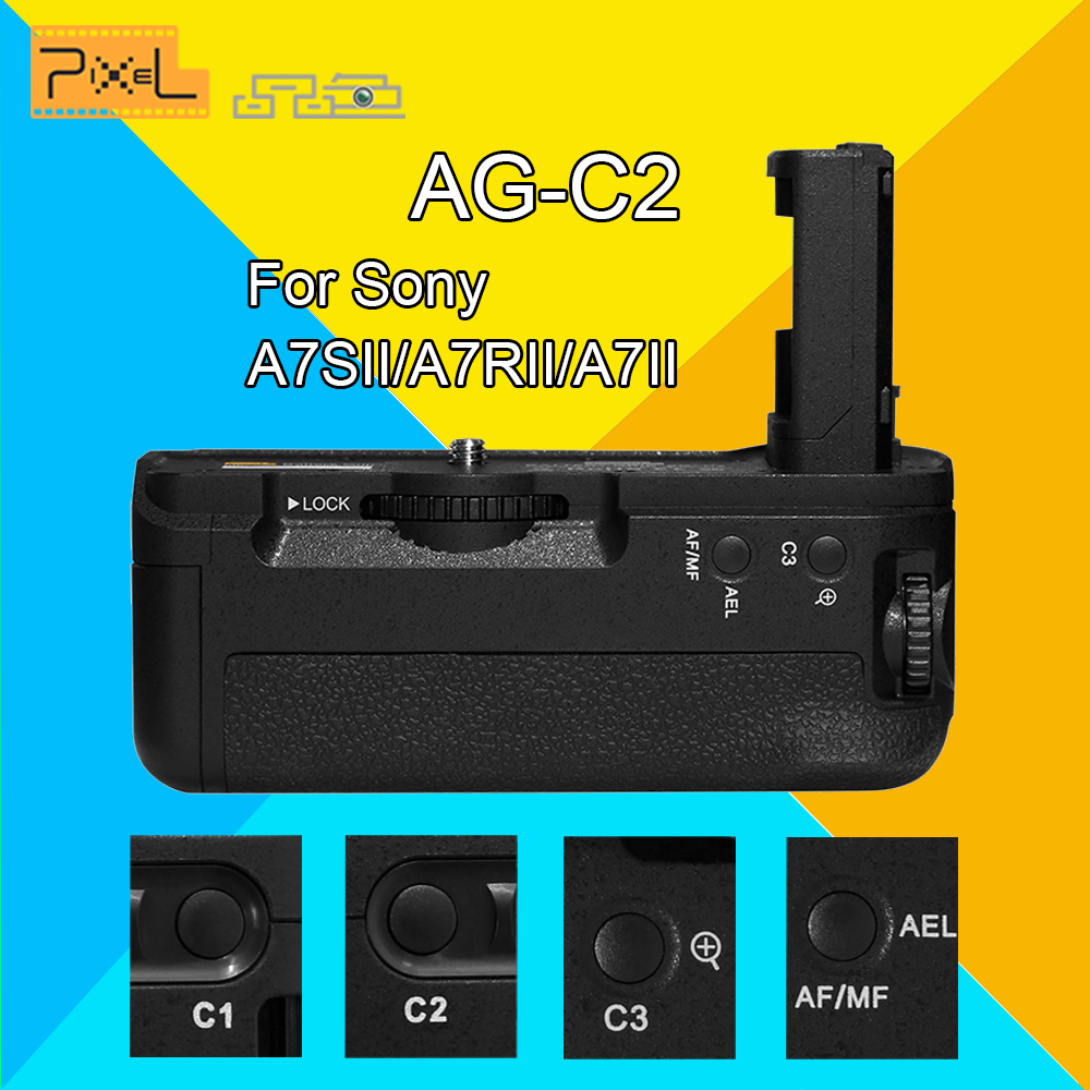 Pixel AG-C2 Professional Vertical Battery Grip Replacement For Sony A7SII/A7RII/A7II Digital Camera Replacement for MK-A7II pixel vertax d12 battery grip for nikon d800 black