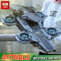 3057pcs Lepin 07043 Super Heroes The Shield Helicarrier Model Building Kits Mini Figure Blocks Bricks Toys