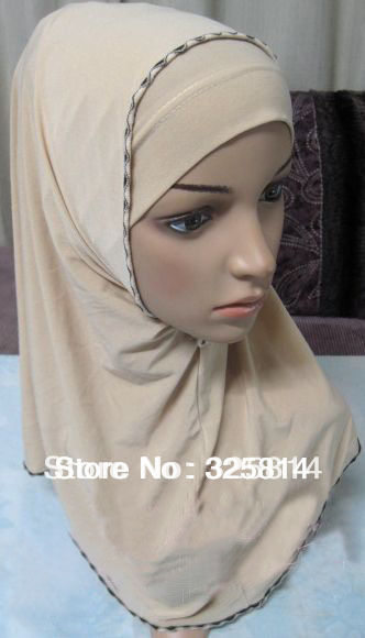 Hot sale double layers Solid Color concise comfort ITY muslim hijab,islamic scarfs cheap price free shipping