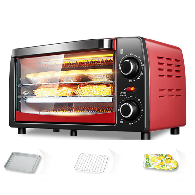 DMWD 12L Automatic Mini Electric Oven 220V 1050W Household Pizza Oven Meat Grill Bread Baking Machine Kitchen Appliances