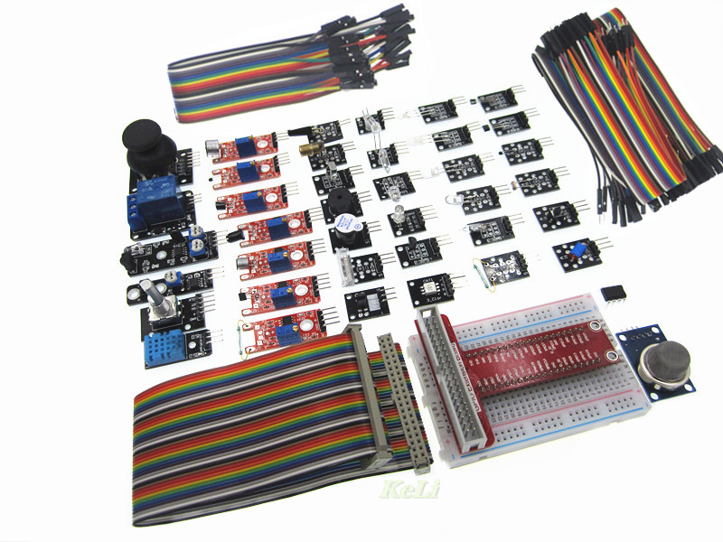 Basic Sensor Kit for Raspberry Pi 3 2 and RPi 1 Model B with 40 Pin