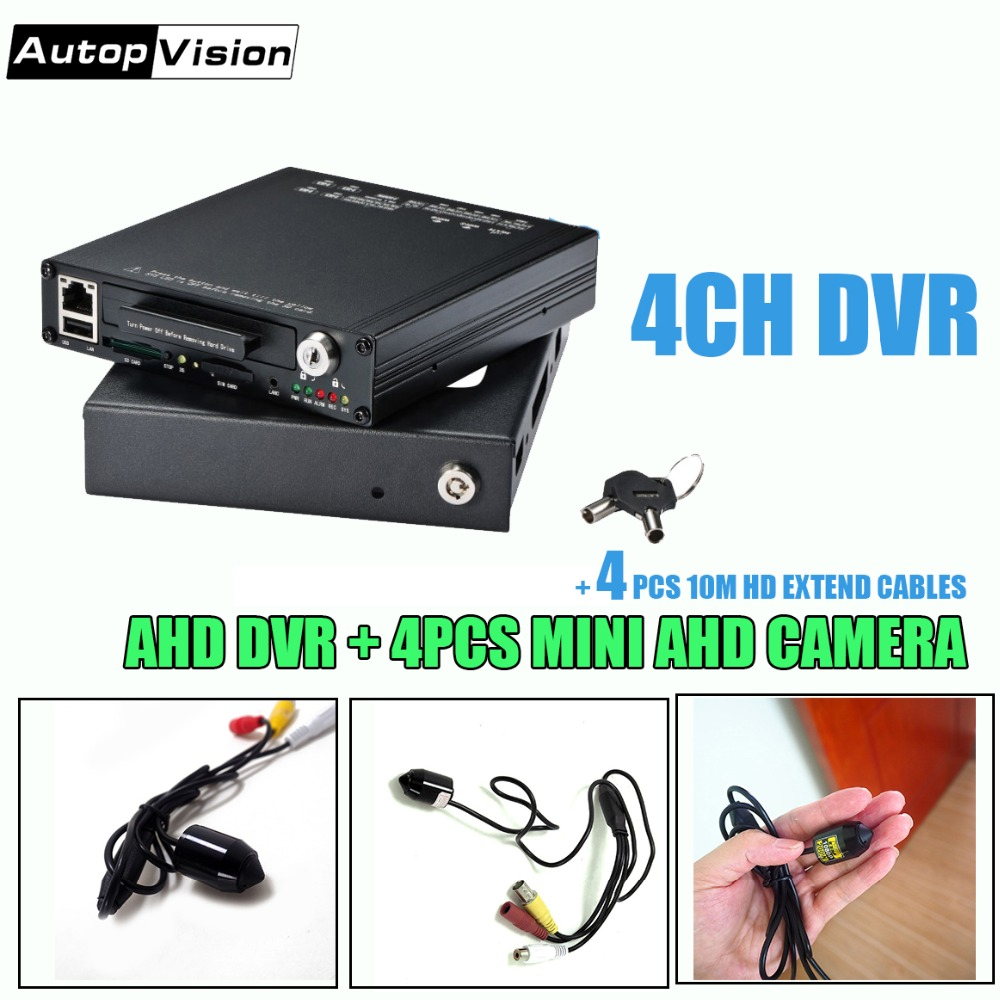 цена на HDVE9804 mini DVR 4CH HDD AHD Mobile DVR with 4 mini cameras support GPS WIFI G-Sensor 4G Car Bus Vehicle DVR Mobile