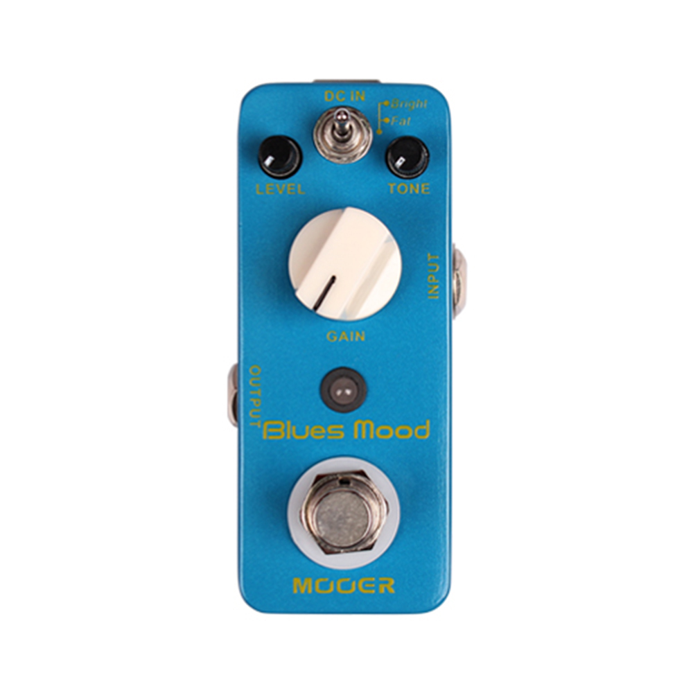 Mooer Blues Mood Guitar Effect Pedal Electric Effects Stompbox True Bypass with Bright & Fat Modes стоимость