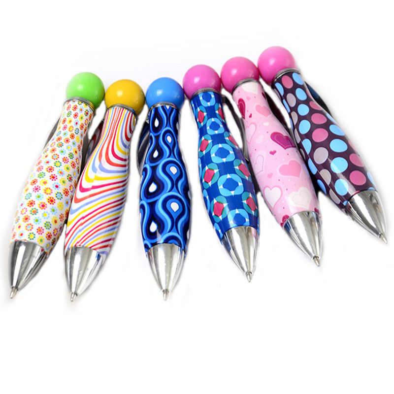 Students Ball-point Pen Short Spin Office School Teens Roller ball Supplies 2Pcs