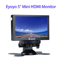 Eyoyo 5 IN MONITOR 5 Mini HDMl Monitor 800x480 Car Rear View TFT With BNC/VGA/HDMl Output Built in Speaker LCD Screen Display