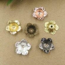 9bd9229bf07a 16mm   4mm 7 colores plateados flores filigrana tapas Conectores Amuletos  cobre componente joyería(China