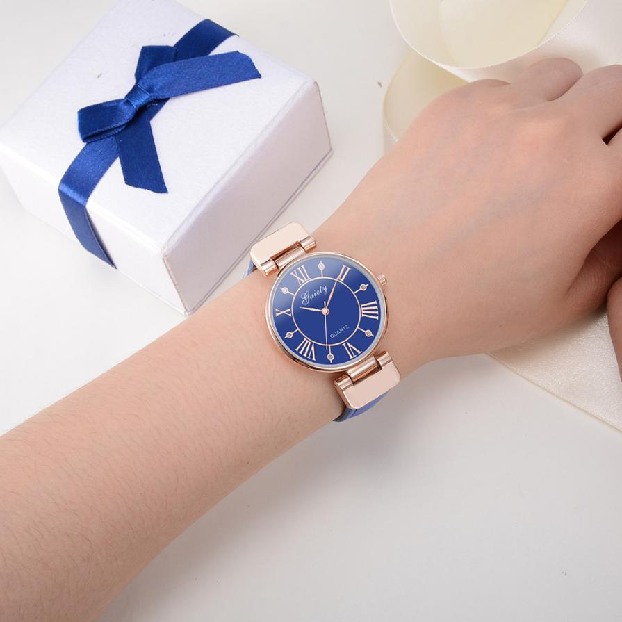 Women Leather Band Analog Quartz Round Wrist Watch Watches fashion women watches ladies wristwatch designer Alloy Leather Top women s stylish zinc alloy band quartz analog wrist watch golden red 1 x 626
