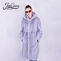 Joolscana Mink Fur Coat For Women Real Mink Fur Coat Longimported Whole Mink From Finland Hoodie