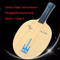 Professional Carbon Fiber Table Tennis Rackets Stable And Offensive Style Horizontal(FL)/straight(CS) Ping Pong Bat Q1169CMF