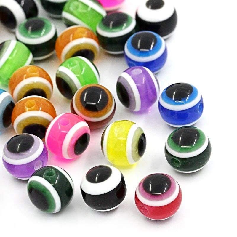 DoreenBeads смолы шарики прокладки шарика Смешанная узоров около 8 мм (3/8 «), диаметр отверстия: приблизительно 1,6 мм, 25 шт. Новый