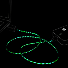 LED Glow Flowing USB Charger Cable lighting For iPhone iPad Samsung Huawei Xiaomi Type C Micro Mobile Phone Charge Data Wire
