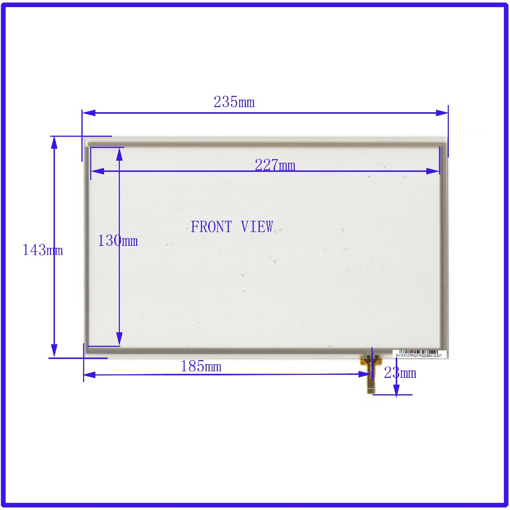 ZhiYuSun 10.4 inch Touch Screen 235mm*143mm 4 wire resistive FOR TABLE for laptop TT02440A50 S4101C07P421PD2095410027