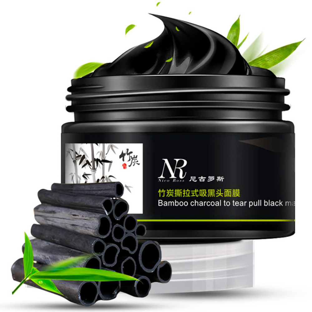 All Natural Charcoal Blackhead Mask Made With 2: Face Care Bamboo Charcoal Facial Tear Pull Nose Blackhead