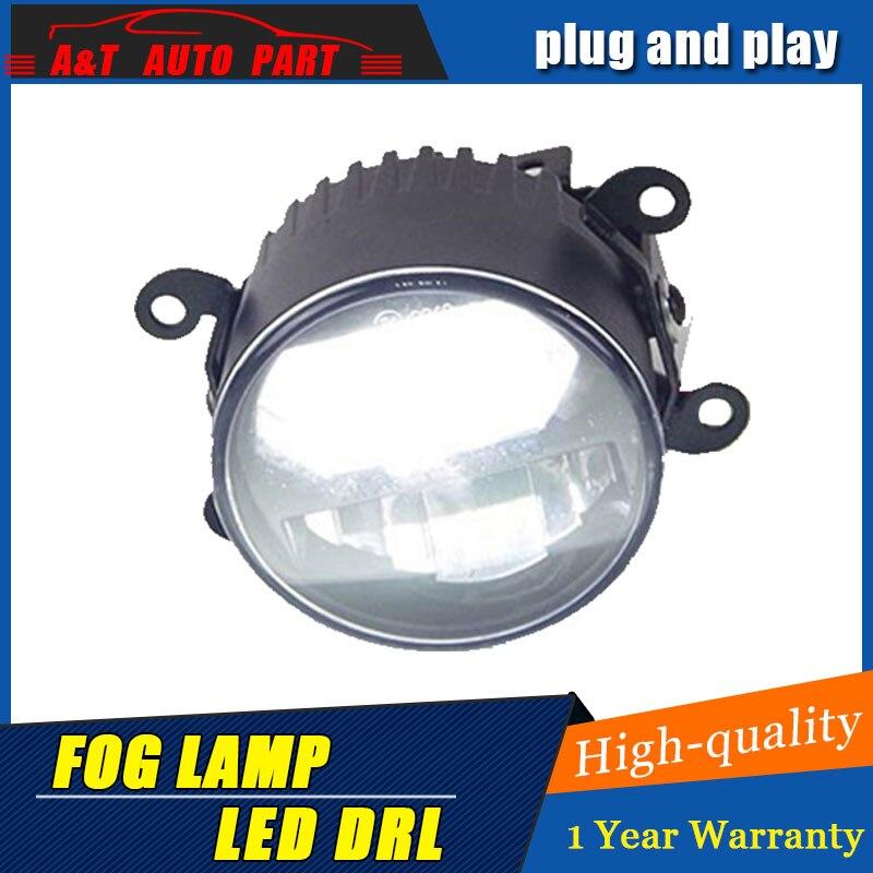 Lampe antibrouillard de LED de style de voiture pour Peugeot 3008 DRL mark certificat antibrouillard feux de croisement projecteur LED blanche 2 fonction