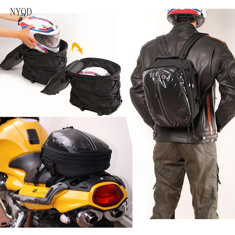 2017 New fashion Multifunction Motorcycle Bag Saddle Bags Waterproof Mochila Moto Racing Backpack Luggage Helmet Travel Tail Bag bjmoto universal motorcycle luggage bag saddle bags motorbike racing backpack helmet tank bag travel tail bag black with red