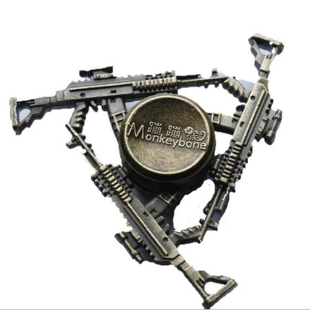 Горячая бронзового цвета три пистолета декомпрессированный фиджет Спиннер стресс пират моряк для подростков подарок ручной Спиннер