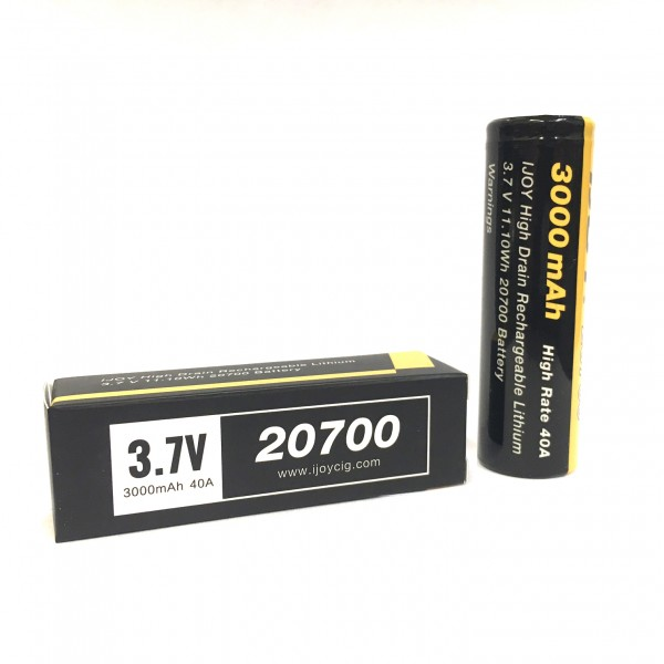 2pcs/pack Original IJOY 20700 3000mAh 40A Rechargeable Battery compatible with 20700 regulated and mechanical MOD original ijoy saber 100 20700 vw kit with 3000mah battery